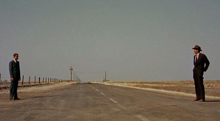 Fotograma de 'Con la muerte en los talones', de Alfred Hitchcock.