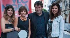 De izquierda a derecha, Olga Fabra, Marta Catalán, Enrique Urbizu y Rosa Hurtado. Fotografía: Santiago Carrión