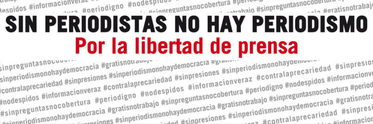 Lema por la libertad de prensa. Imagen de la web de la FAPE.