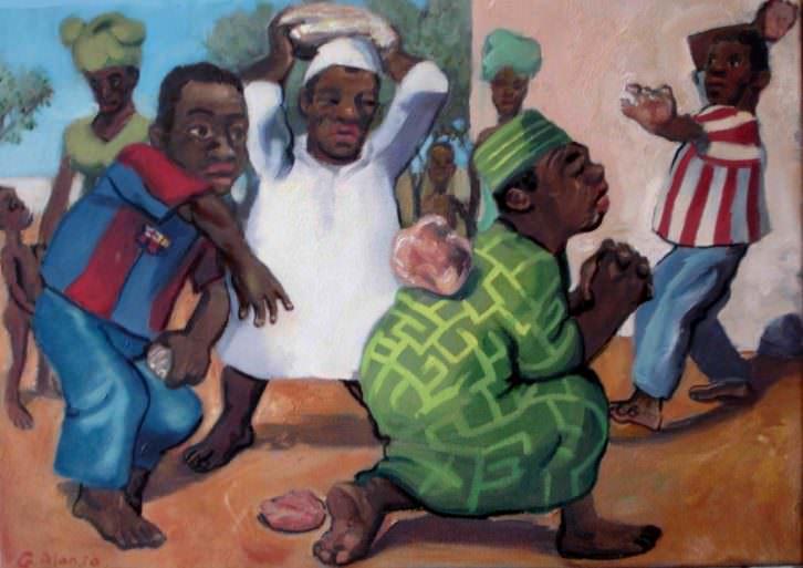 Obra de Gabriel Alonso en la exposición 'Homenatge a Déu'. Imagen cortesía del autor.
