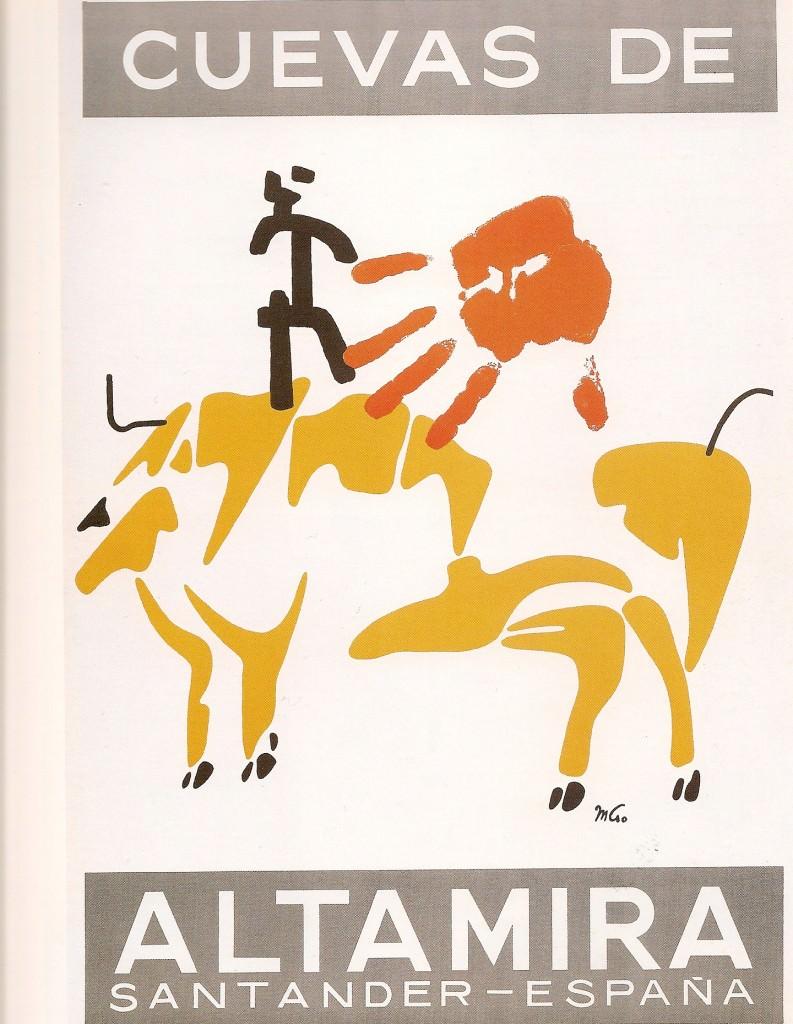 Mathias Goeritz, Cartel de las Cuevas de Altamira, 1948. Imagen cortesía de Chus Tudelilla.