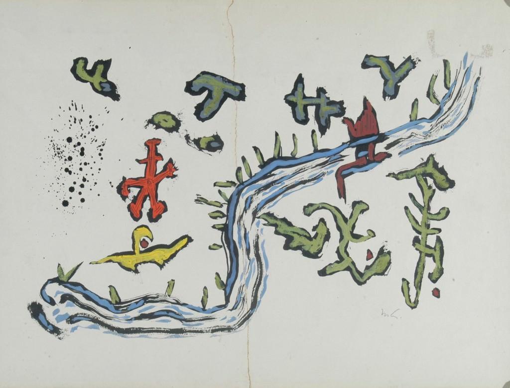 Mathias Goeritz, Paisaje fluvial, 1948. Colección Instituto Cultural Cabañas, Guadalajara, Jalisco. Imagen cortesía de Chus Tudelilla.