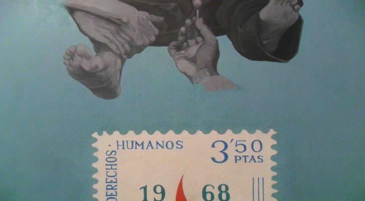 Detalle de una de las obras de Monjalés.