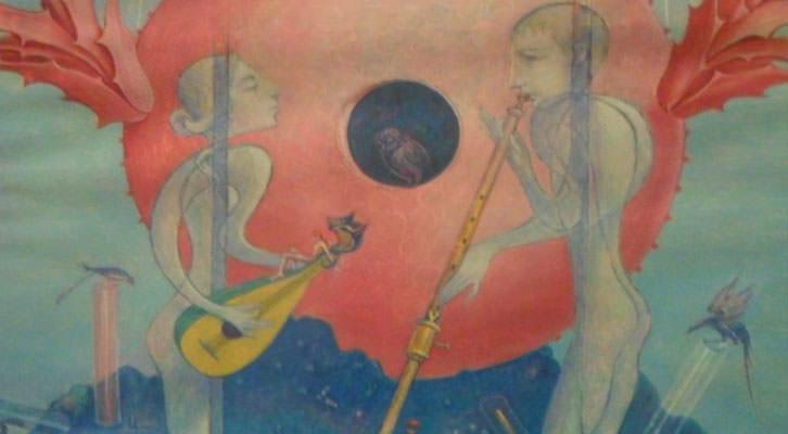 Obra de Monjalés de su serie Pacto de las premoniciones.