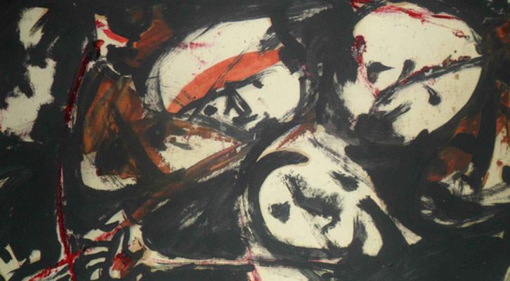 Obra de Monjalés de su serie La lucha.