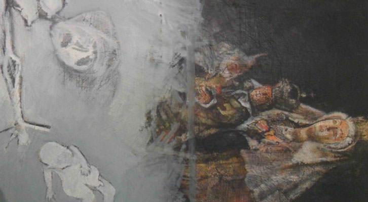 Obra de Monjalés de su serie Los hijos de España.