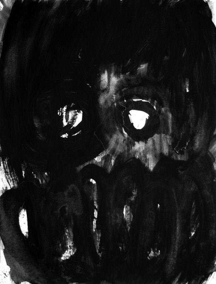 Obra de Pablo Bellot, en la exposición 'No sé qué pasa que lo veo todo negro'. Imagen cortesía de la comisaria Irene Ballester.