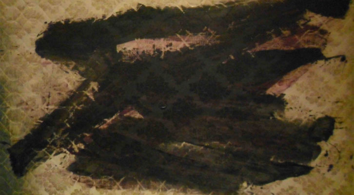 Detalle de una de las obras de Rebeca Plana en la exposición 'Top Control' de La Gallera.