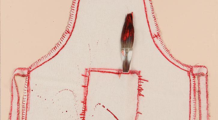 Detalle de la obra de Teresa Cebrián. Imagen cortesía de La Nau de la Universitat de València.