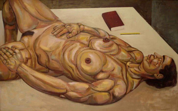 Obra de Tomàs Serra en la exposición 'Homenatge a Déu'. Imagen cortesía del estudio Gabriel Alonso.