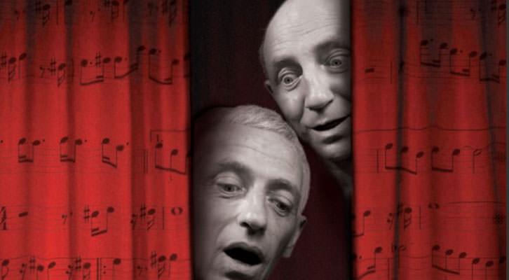 Joan Segalés (abajo) y Joan Faneca, componentes de Vol-Ras, en el cartel del espectáculo 'Da capo'.