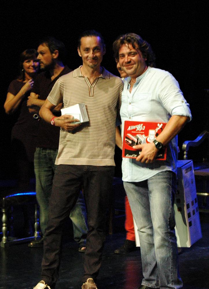 Los ganadores del Premio del Público al Mejor Espectáculo de Danza. Imagen cortesía de Sala Russafa.