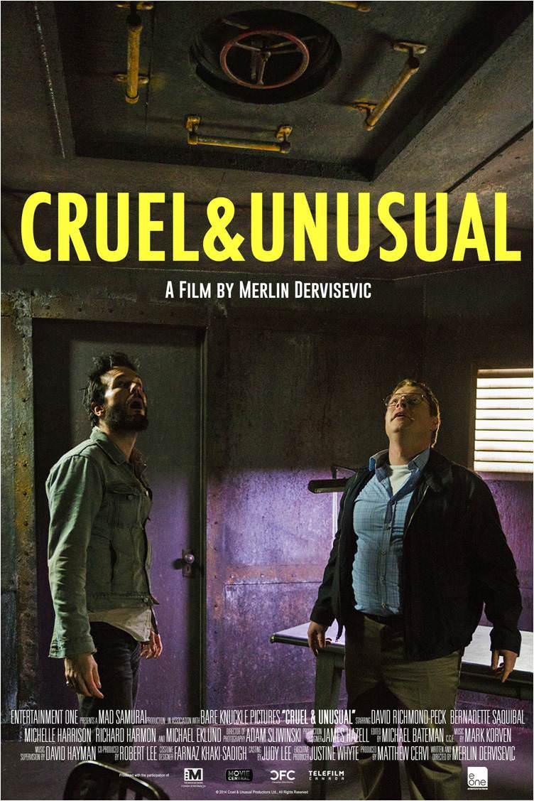Cartel promocional para Cruel & Unusual (Merlin Dervisevic, 2014).
