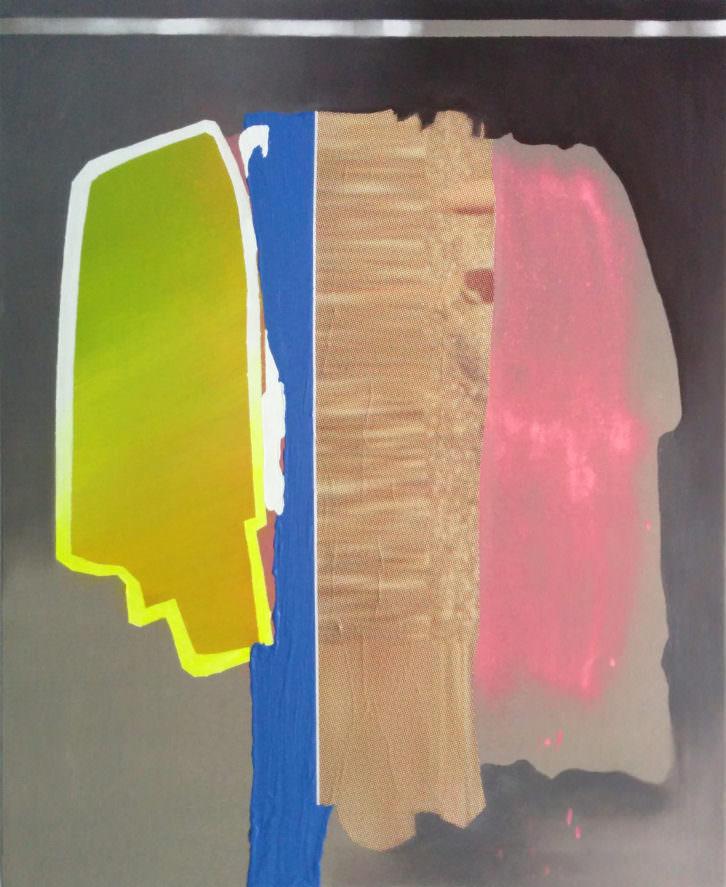 Juan Carlos Rosa Casasola. #BestSeller XXII, Acrílico, spray e impresión digital sobre papel sobre lienzo, 2014. Imagen cortesía del artista.