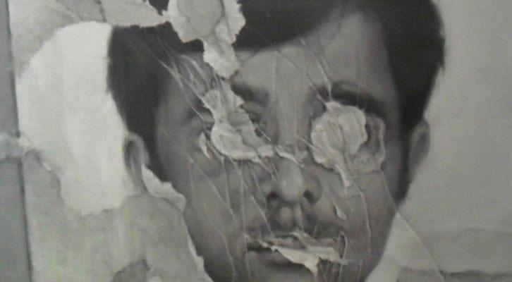 Obra de Chema López en 'Un cuento de fantasmas para adultos'. La Nau de la Universitat de València.