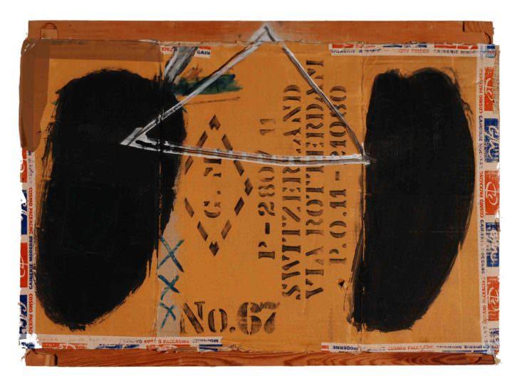 Jorge Carla Bajo. Cartón67, 2014. Acrílico sobre cartón y bastidor. 50 x 70 cm. Imagen cortesía del artista y Galería Cuatro.
