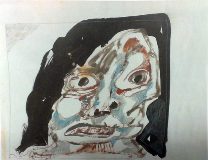 Lucebert. S/T, 1978. Ceras y tinta sobre papel. 50 x 65 cm. Imagen cortesía de Galería Rosalía Sender.
