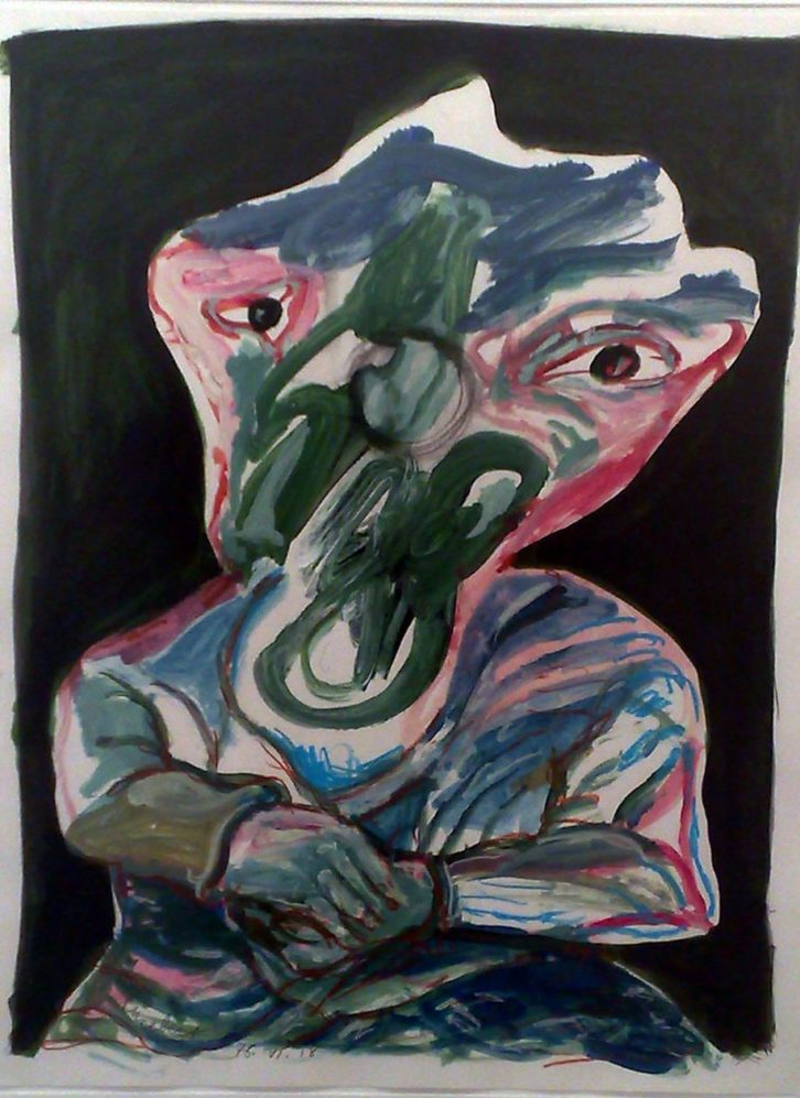 Lucebert. S/T, 1991. Acrílico sobre cartón. 50 x 65 cm. Imagen cortesía de Galería Rosalía Sender.