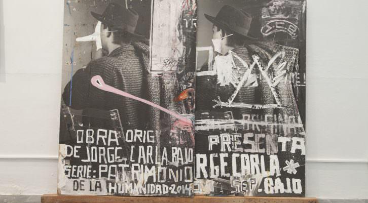 Jorge Carla Bajo. Patrimonio de la Humanidad, 2014. Técnica mixta sobre fotografía. 175 x 236 cm. Imagen cortesía del artista y Galería Cuatro.