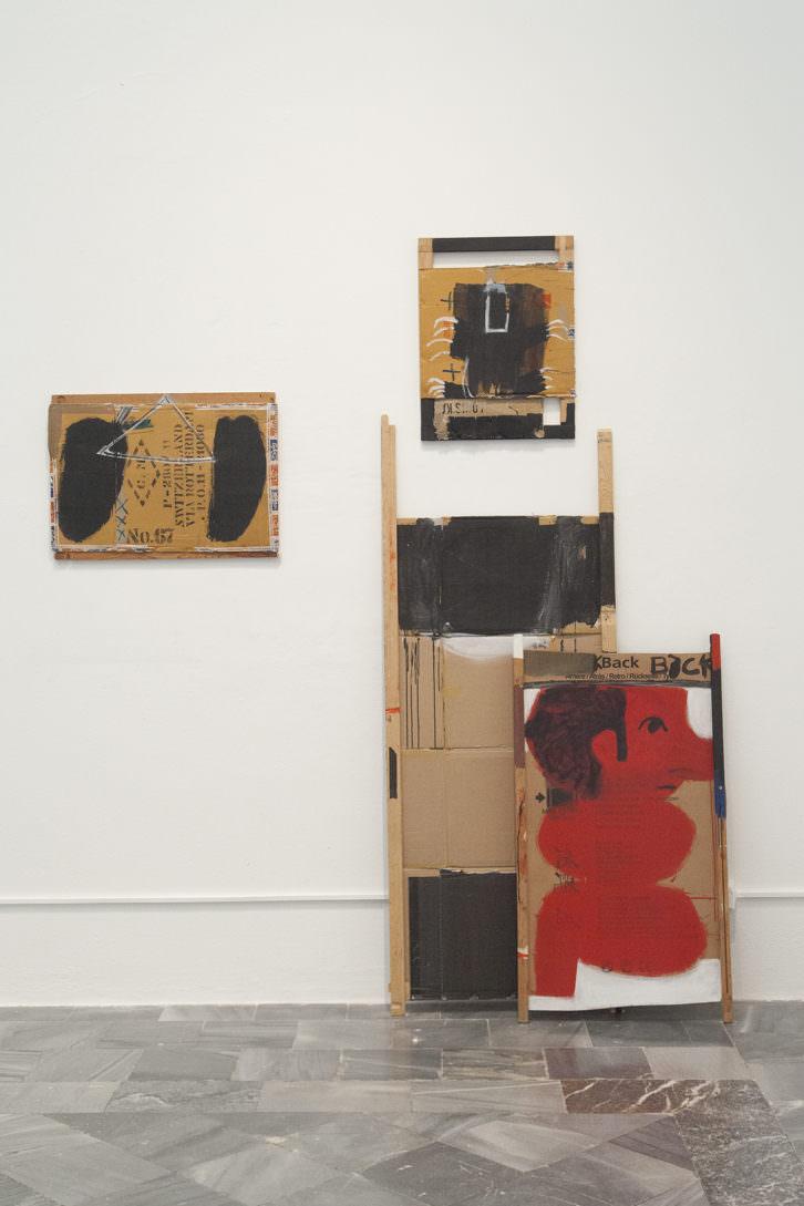 Vista de sala con obras de Jorge Carla Bajo en Ver visiones. Foto: Nacho López. Imagen cortesía del artista y Galería Cuatro.