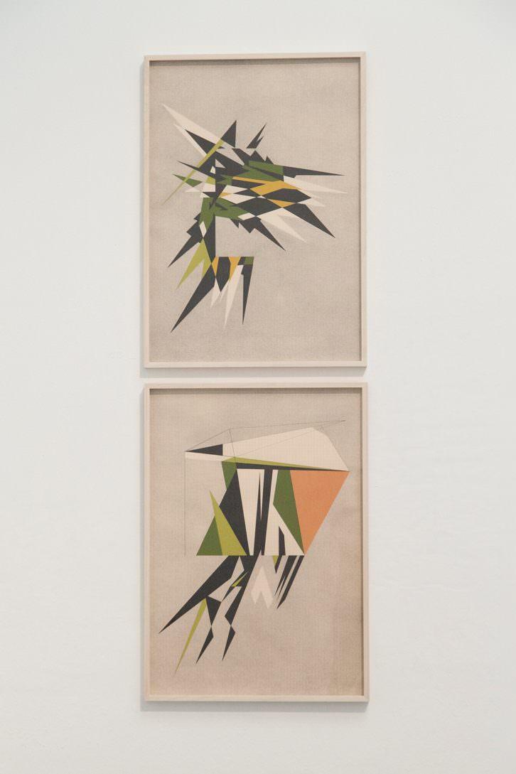 Vista de sala con obras de Roberto Mollá en Ver visiones. Foto: Nacho López. Imagen cortesía del artista y Trentatres Gallery.
