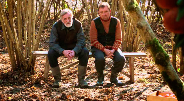 Lembit Ulfsak (izquierda) y Elmo Nüganen en 'Mandariinid', de Zaza Urushadze. Festival Internacional de Cine de Valencia - Cinema Jove.