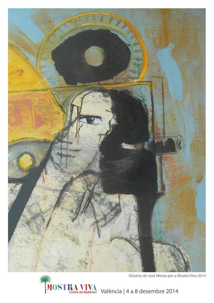 Cartel de Mostra Viva 2014, obra de José Morea. Imagen cortesía de Mostra Viva.