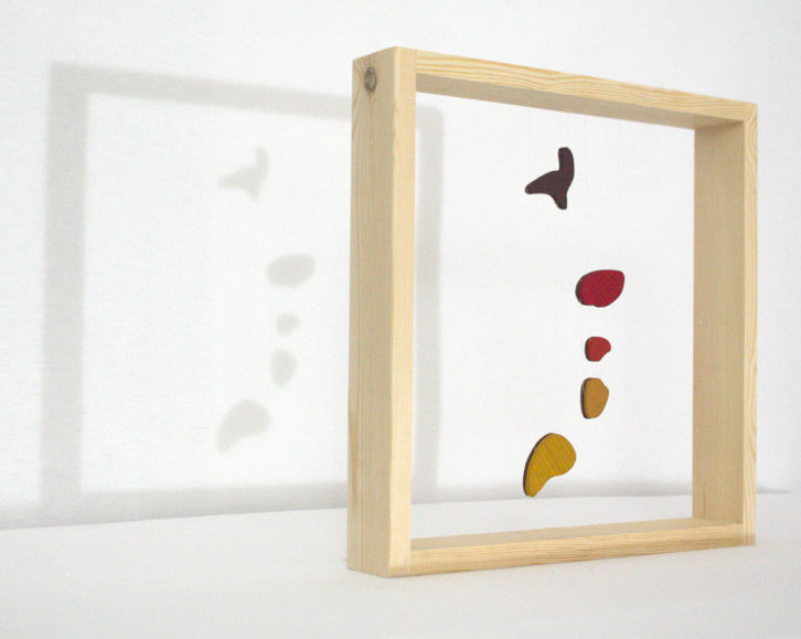 Obra de Luis Rivera en la exposición 'Hitchcock's shadows'. Imagen cortesía de la galería Alba Cabrera.