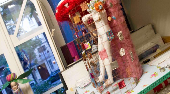 Imagen tomada del estudio de Araceli Carrión en Russafart. Fotografía: Maite Bäckman.