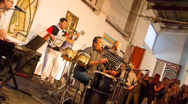 Acto de clausura de Russafart 2014 en Sporting Club Russafa con Julio Montalvo Collectiva. Fotografía: Maite Bäckman.