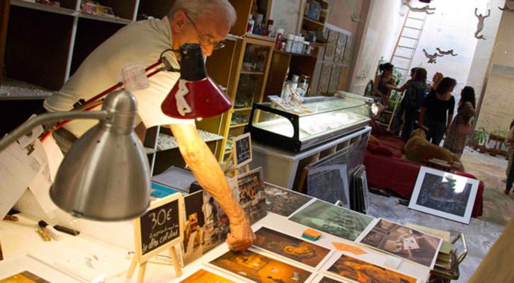Imagen tomada en el estudio de Anna Sanchis durante los días de Russafart 2014. Fotografía: Maite Bäckman.