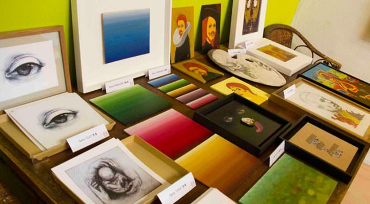 Obras del estudio de Miguel Ángel Aranda. Fotografía: Maite Bäckman.