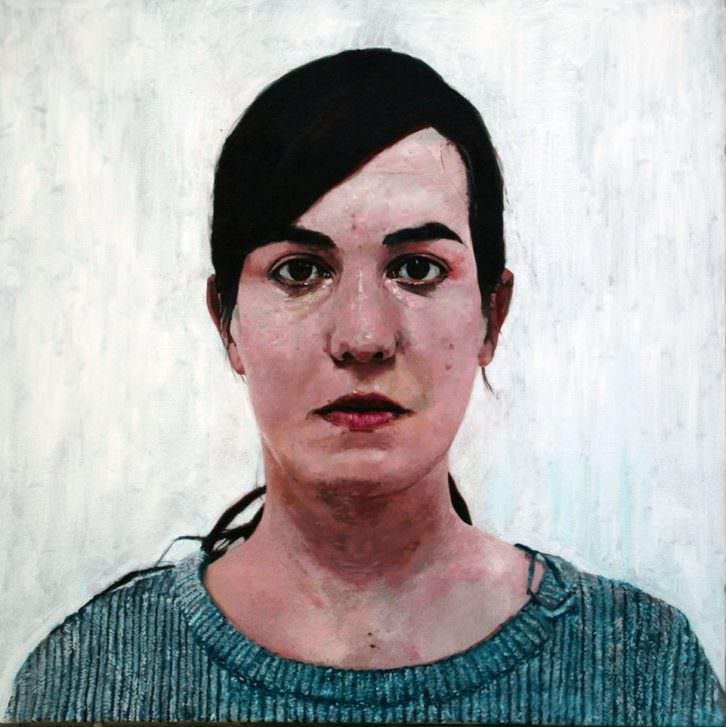 Enrique Zabala. Serie Never so close. Portraits, 2012-2014. Acrílico y óleo sobre lienzo. 81 x 81 x 3 cm. Imagen cotesía del artista y Galería Rosa Santos.
