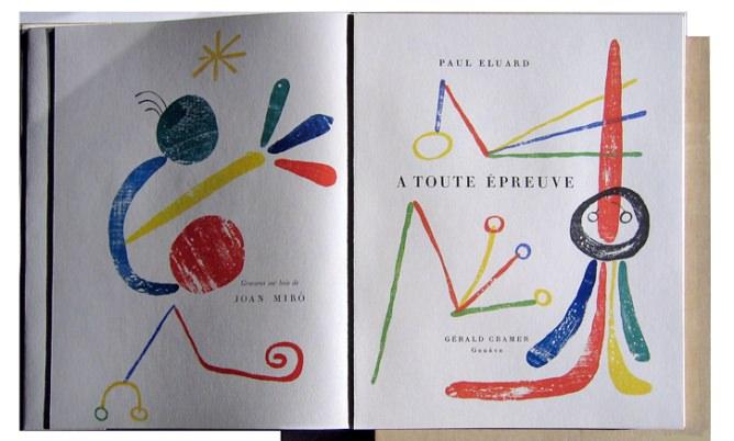 Eluard y Joan Miró.