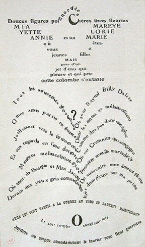 Calligrammes, de Apollinaire. Imagen cortesía de José Emilio Antón.