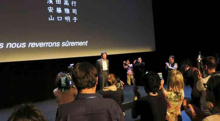 Isao Takahata tras la proyección de la película. Festival Internacional de Cine de Animación de Annecy 2014.