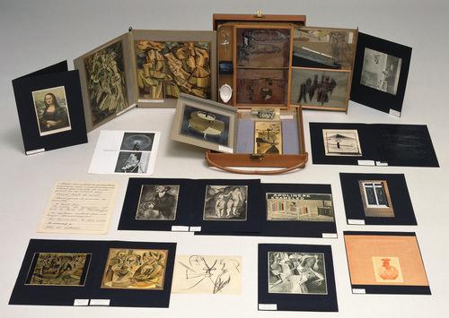 Bote en valise de Marcel Duchamp. Imagen cortesía Moma, Nueva York