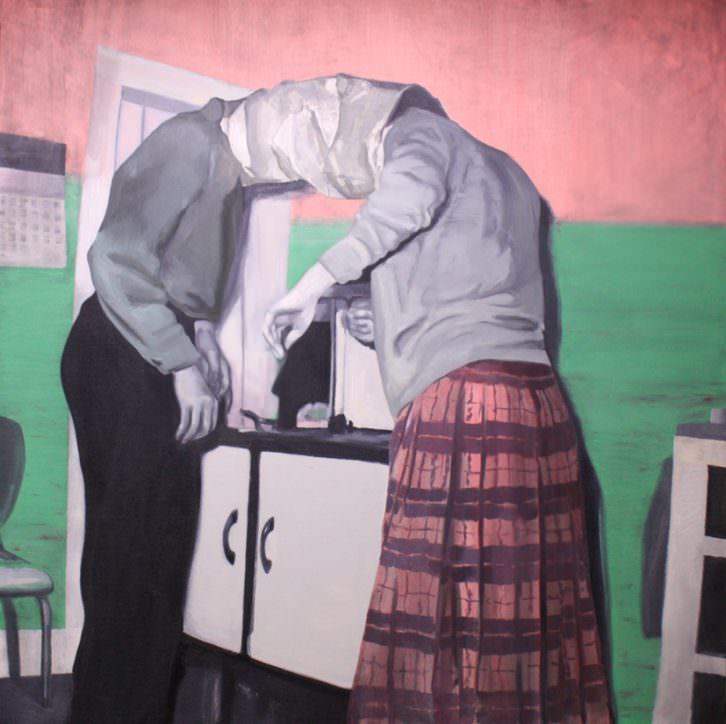 Cristina Toledo. Bag-it. Primer premio de la Convocatoria de Pintura Mardel 2013. Imagen cortesía de la artista y la organización.