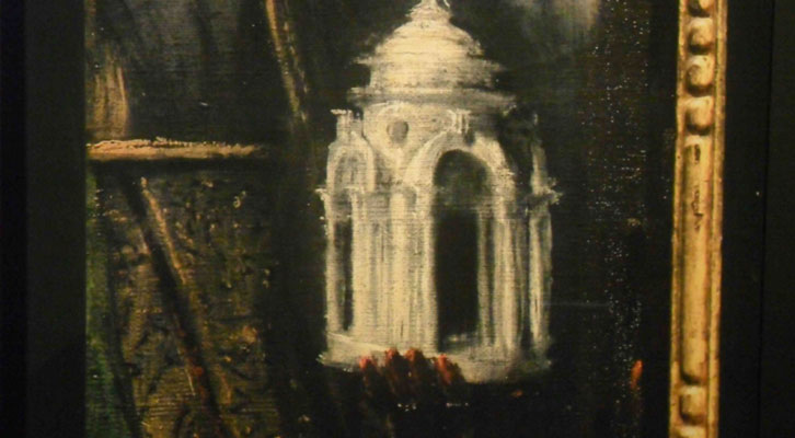 Una de las obras de la exposición 'El Greco Architeto. Algo más que retablos', de Joaquín Bérchez, en el Centro del Carmen.