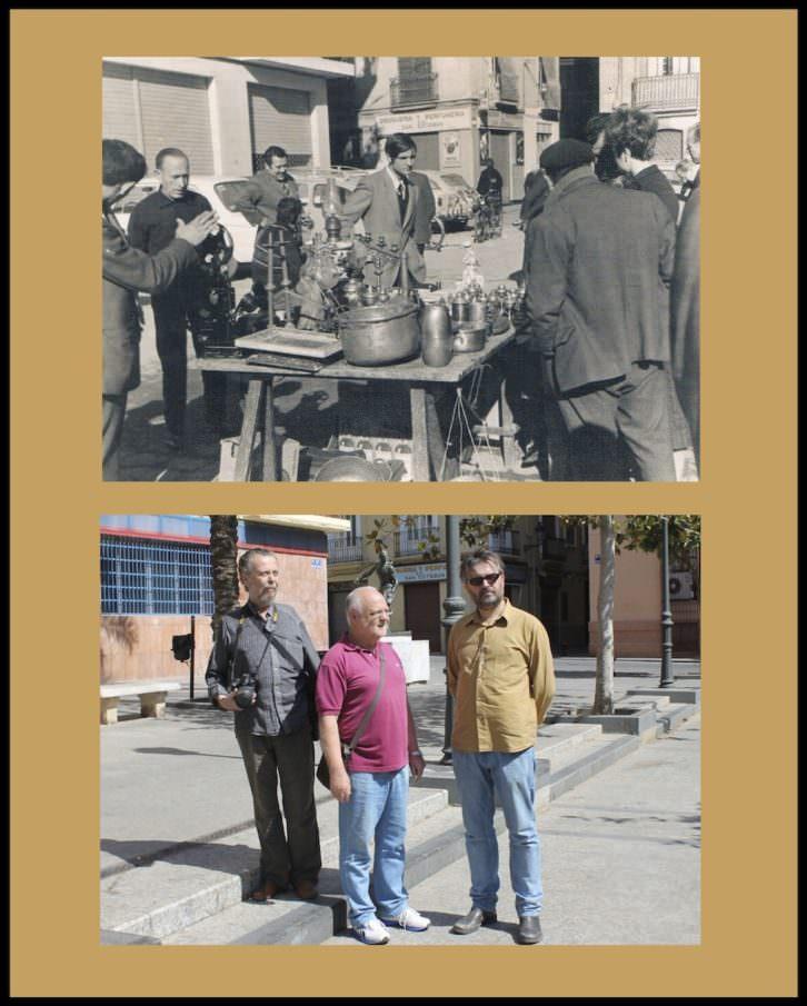 Fotografías de Andrés Giménez y Ángel Martinez en 'La Valencia desaparecida'. Imagen cortesía de Railowsky.