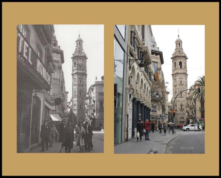 Fotografías de Andrés Giménez y Ángel Martínez en 'La Valencia desaparecida'. Imagen cortesía de Railowsky.