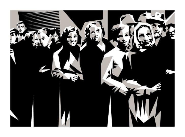 Obra de Manolo Sánchez en la exposición 'De luces a sombras' en La Llotgeta. Imagen cortesía del comisario Nilo Casares.