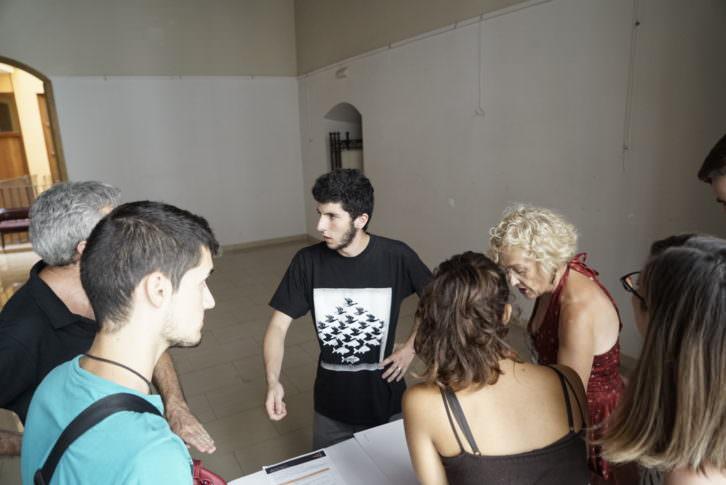 Los finalistas de Visual Talent, con Marina Segarra (derecha), en el Círculo de Bellas Artes de Valencia. Foto: Mario Marco.