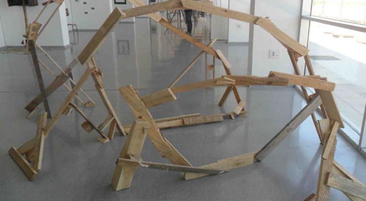 'Oreka', escultura de Ainhitze Egaña galardonada con el primer premio de la sexta convocatoria DKV Fresh Art.