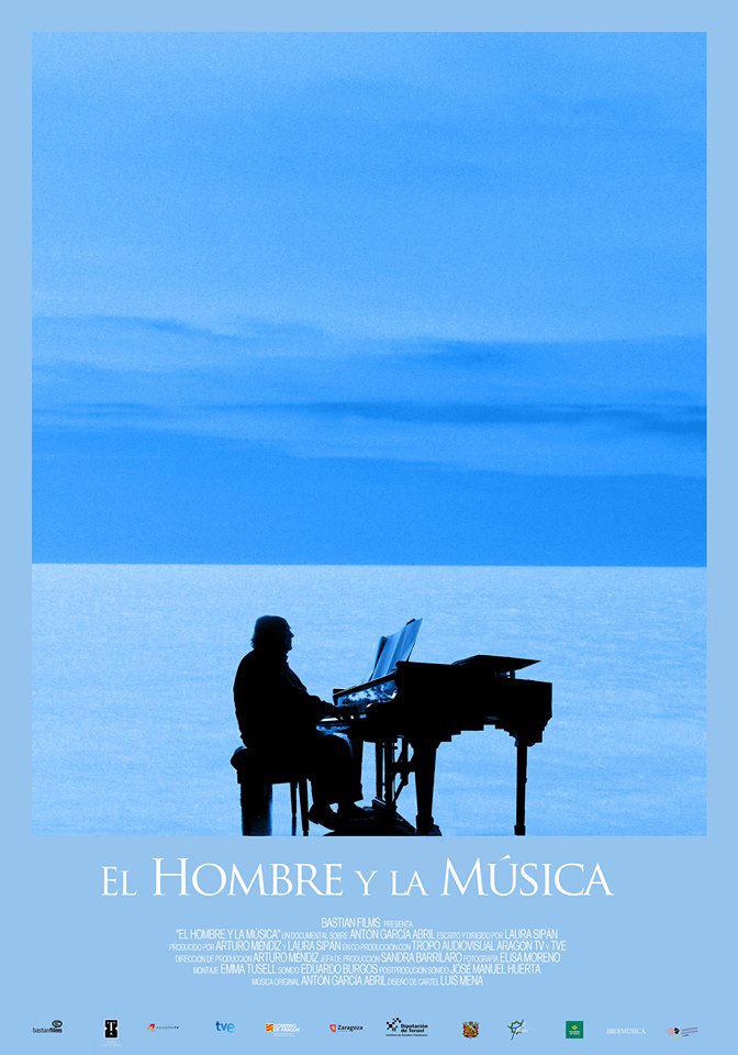 Cartel del documental 'El hombre y la música', de Laura Sepán, en el festival '22xDon Luis' del Centro Buñuel de Calanda.