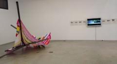 Vista de sala con obras de David Mutiloa y Olalla Castro. BIAM 2014.