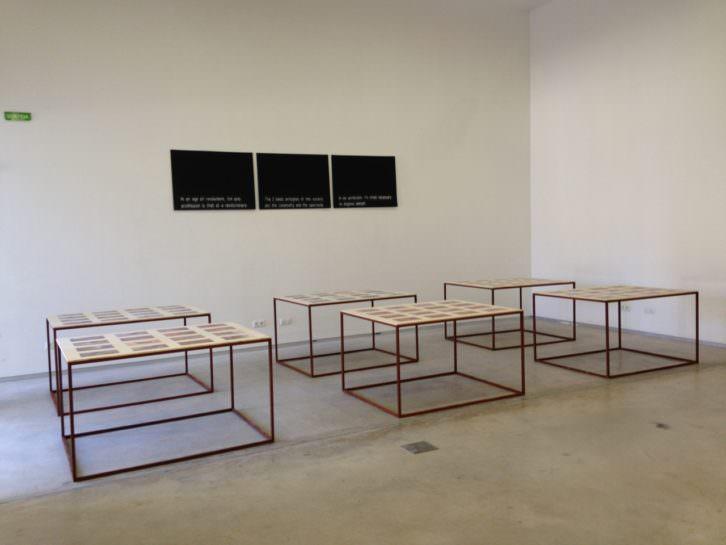 Vista de sala con obras de Joan Morey y Marc Larré. BIAM 2014.