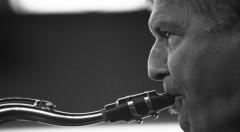 El saxofonista Jerry Bergonzi. Fotografía de Antonio Porcar por cortesía de Jimmy Glass.