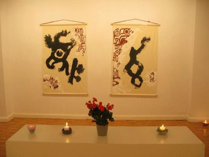 Obras de Kenryo Hara en la Galería O+O de Benimaclet. Imagen cortesía de Galería O+O