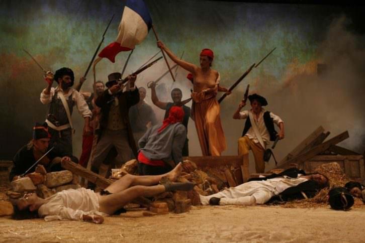 La liberté rassonnée, de Zaera, en la exposición 'Mujeres: territorios de resistencia', en La Nau de la Universitat de València. Imagen cortesía de La Nau.